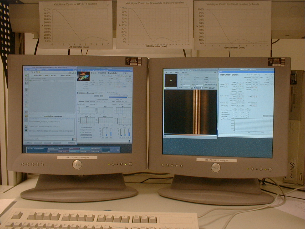First 3T fringes in the Paranal Lab on AMBER